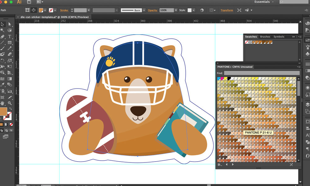 setting the PMS color on Adobe illustrator